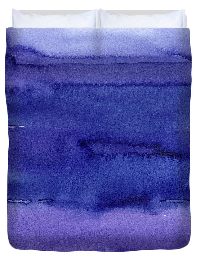 Purple Duvet Cover featuring the painting Abstract Watercolor Pattern by Olga Shvartsur