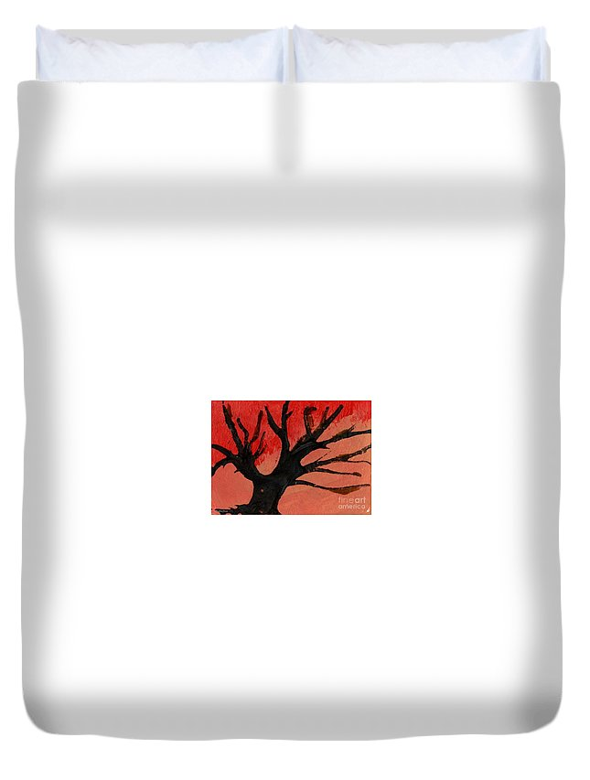 Tree Duvet Cover featuring the painting Abstract X Wr by Mrs Wilkes Art