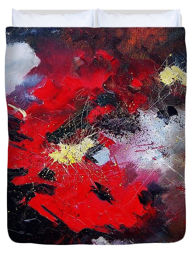 Abstract Duvet Cover featuring the painting Abstract070406 by Pol Ledent