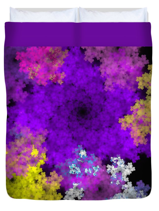 Abstract Digital Painting Duvet Cover featuring the digital art Abstract10-16-09-1 by David Lane