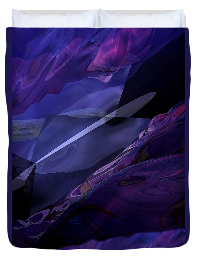 Abstract Duvet Cover featuring the digital art Abstractbr6-1 by David Lane