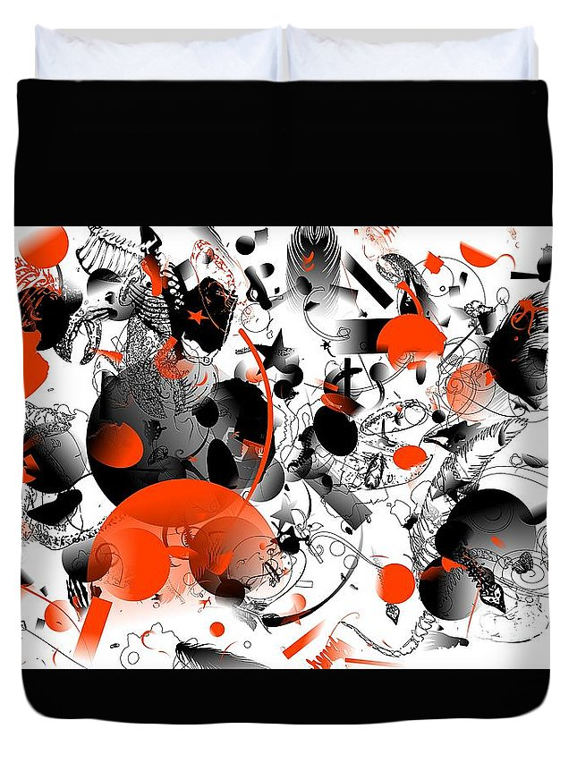Abstraction 963 - Marucii Duvet Cover featuring the digital art Abstraction 1109 by Marek Lutek
