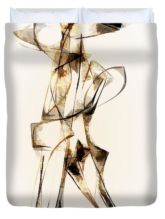 Abstraction Duvet Cover featuring the digital art Abstraction 2915 by Marek Lutek