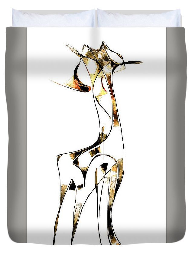 Abstraction Duvet Cover featuring the digital art Abstraction 2916 by Marek Lutek
