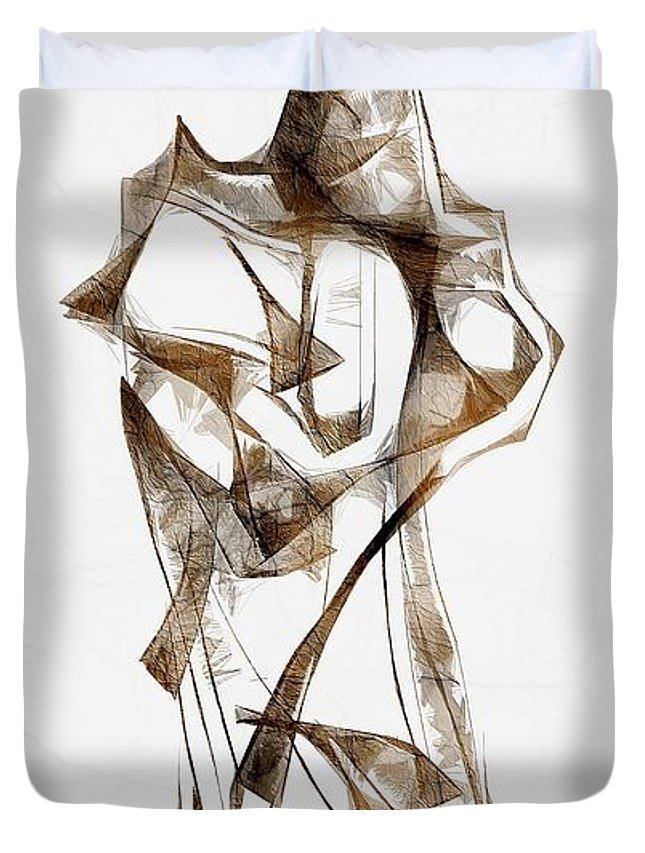 Abstraction Duvet Cover featuring the digital art Abstraction 2928 by Marek Lutek
