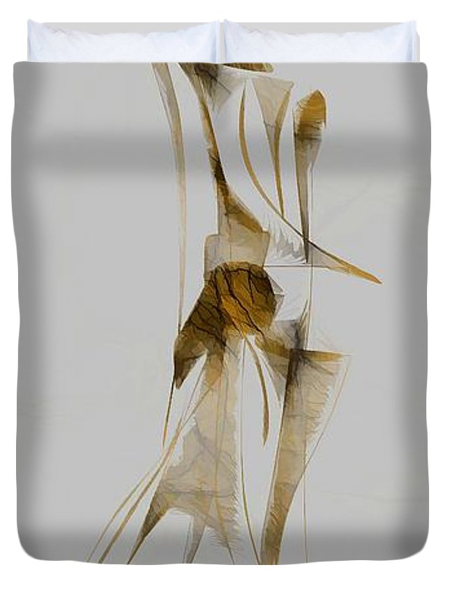 Abstraction Duvet Cover featuring the digital art Abstraction 2932 by Marek Lutek