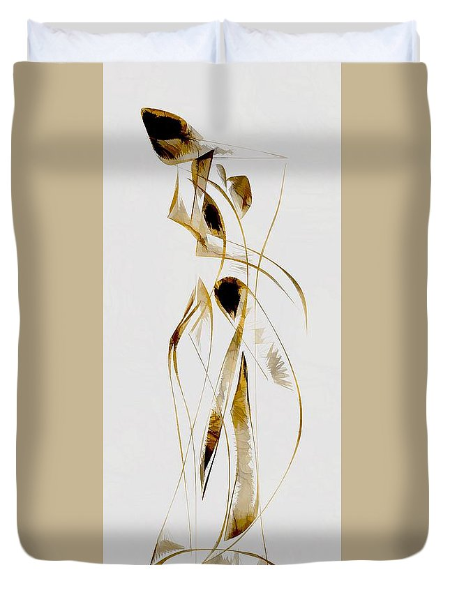 Abstraction Duvet Cover featuring the digital art Abstraction 2933 by Marek Lutek