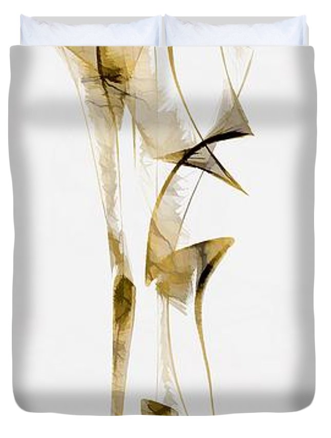 Abstraction Duvet Cover featuring the digital art Abstraction 2940 by Marek Lutek
