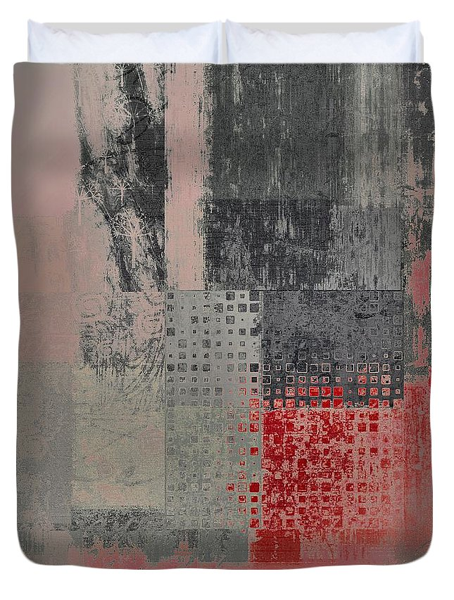 Abstract Duvet Cover featuring the digital art Abstractionnel by Variance Collections