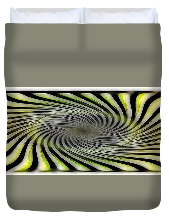Abstract Duvet Cover featuring the digital art Abstrat by Galeria Trompiz