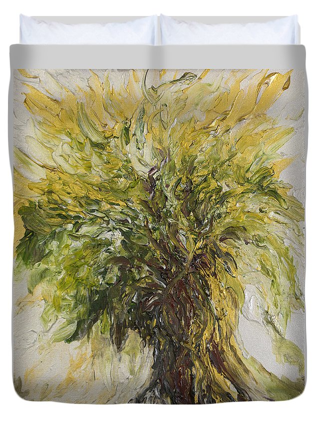 Abundance Duvet Cover featuring the painting Abundance Tree by Michelle Pier