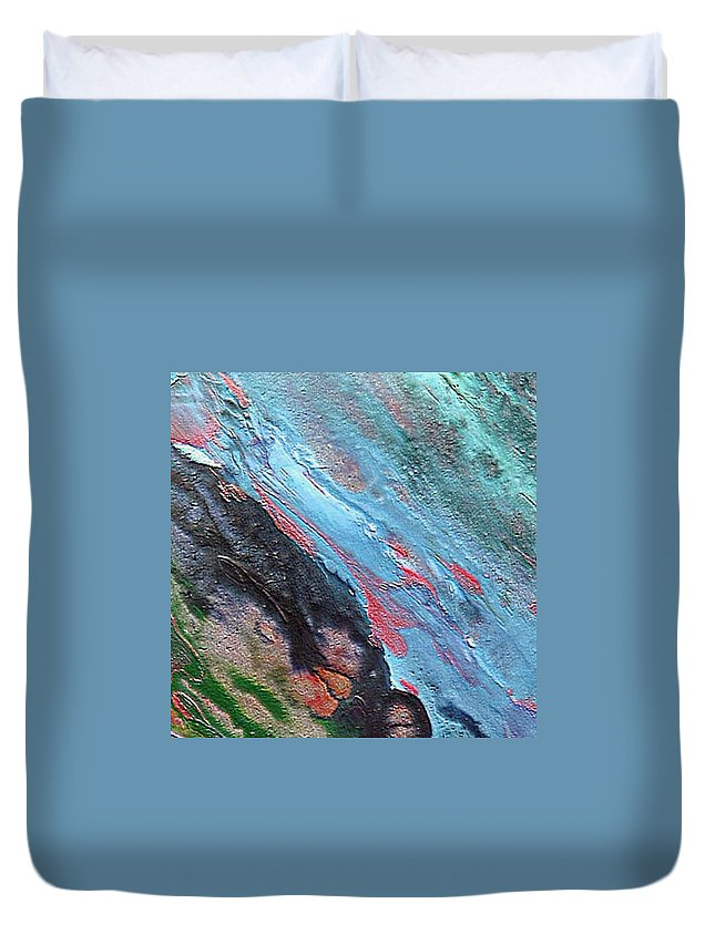Abyss Duvet Cover featuring the painting Abyss by Dragica Micki Fortuna