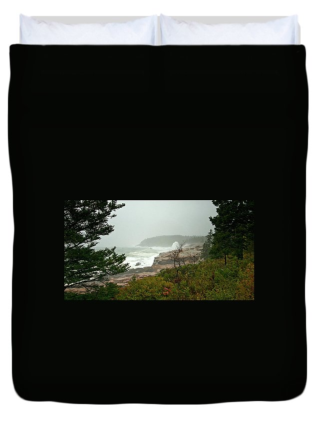 nor' Easter Duvet Cover featuring the photograph Acadian Storm by Paul Mangold