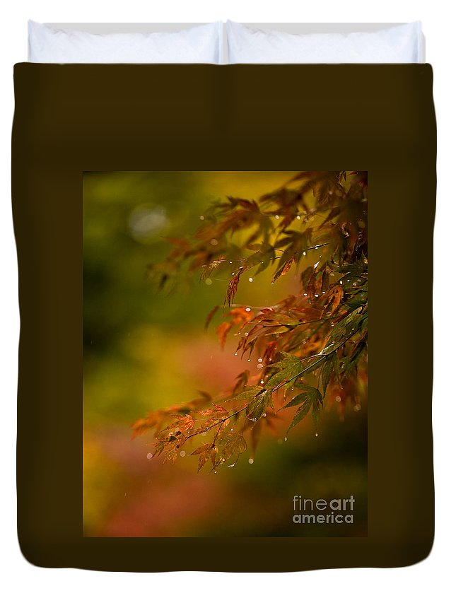 Acer Duvet Cover featuring the photograph Acer Jewels by Mike Reid