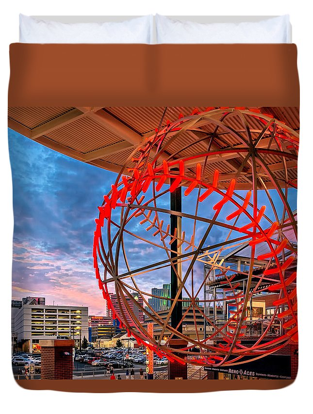 Activity Duvet Cover featuring the photograph Acesball by Maria Coulson