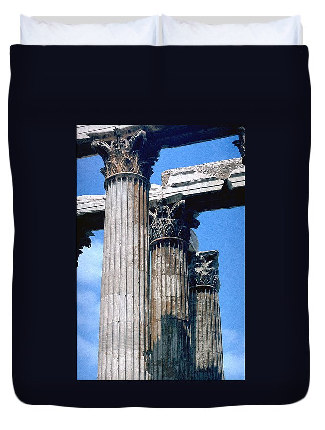 Acropolis Duvet Cover featuring the photograph Acropolis by Flavia Westerwelle