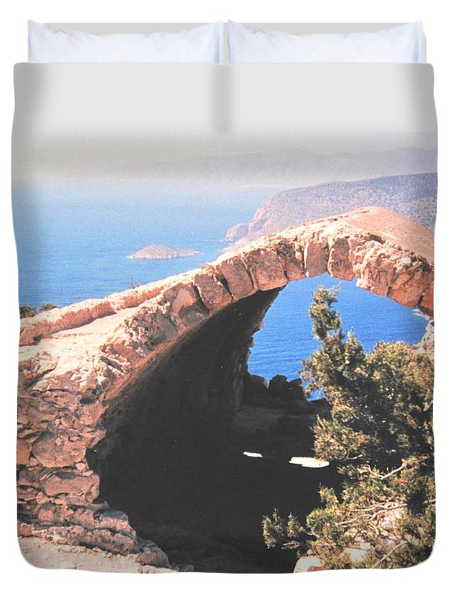 Greece Duvet Cover featuring the photograph Across To Turkey by Ian MacDonald