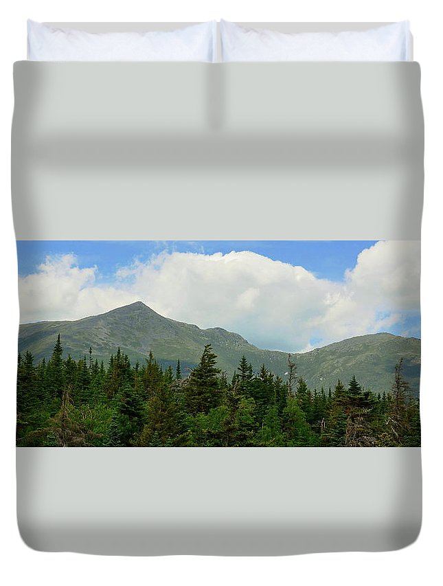 Mountains Duvet Cover featuring the photograph Adams And Madison by Harry Moulton