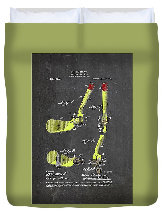 Golf Duvet Cover featuring the digital art Adjustable Golf Club by Ray Walsh