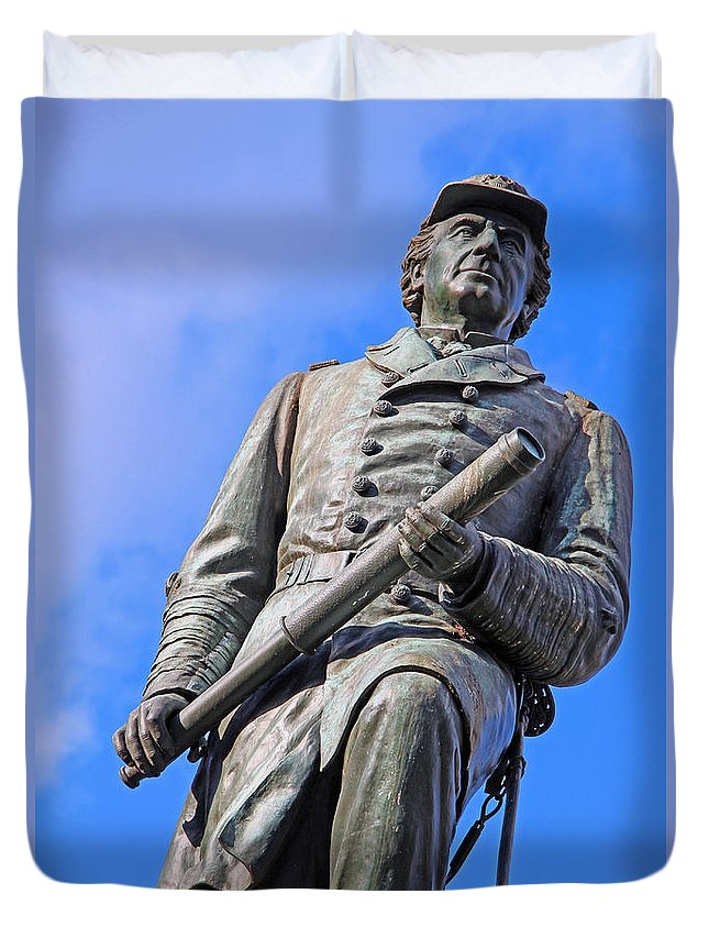 David Duvet Cover featuring the photograph Admiral David Farragut In Farragut Square by Cora Wandel