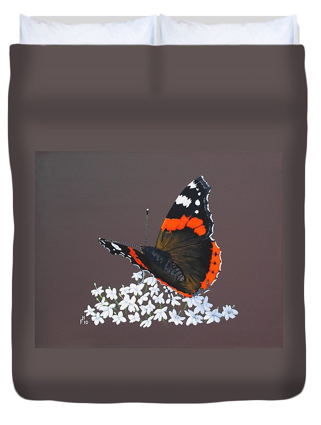 Acrylic Duvet Cover featuring the painting Admiral Rest by Frank Hamilton