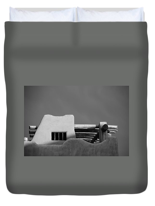 Architecture Duvet Cover featuring the photograph Adobe Turrett by Rob Hans