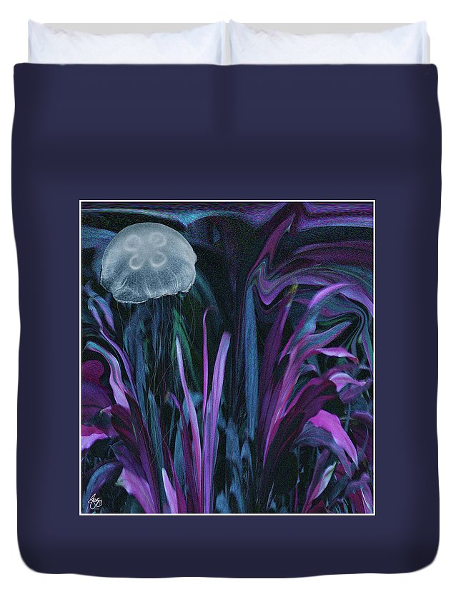 Abstract Duvet Cover featuring the photograph Adrift In The Mermaid Cafe by Wayne D King