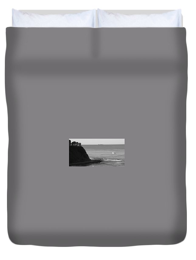 Ocean Duvet Cover featuring the photograph Adrift by Shari Chavira