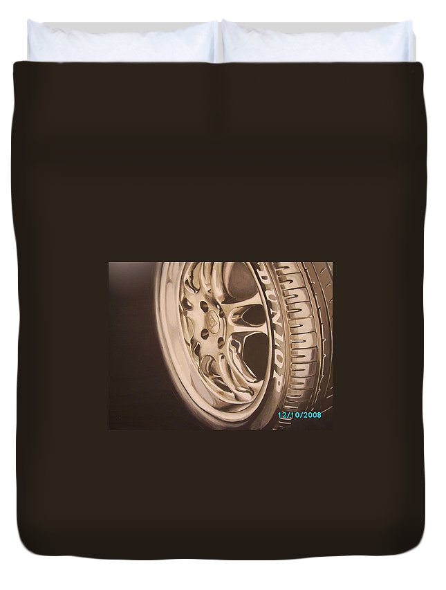 Graphic Duvet Cover featuring the digital art Advert by Olaoluwa Smith