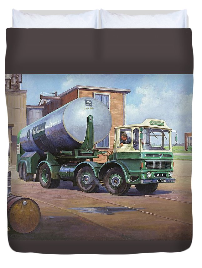 Painting For Sale Duvet Cover featuring the painting Aec Air Products by Mike Jeffries