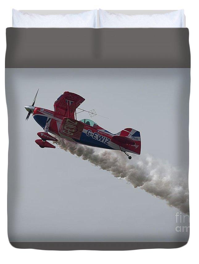 Aerobatics Duvet Cover featuring the photograph Aerobatics by Philip Pound