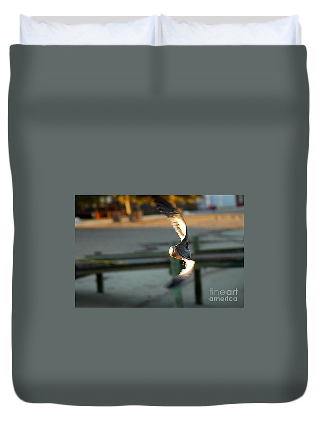 Clay Duvet Cover featuring the photograph Aeronautical Acrobatics by Clayton Bruster