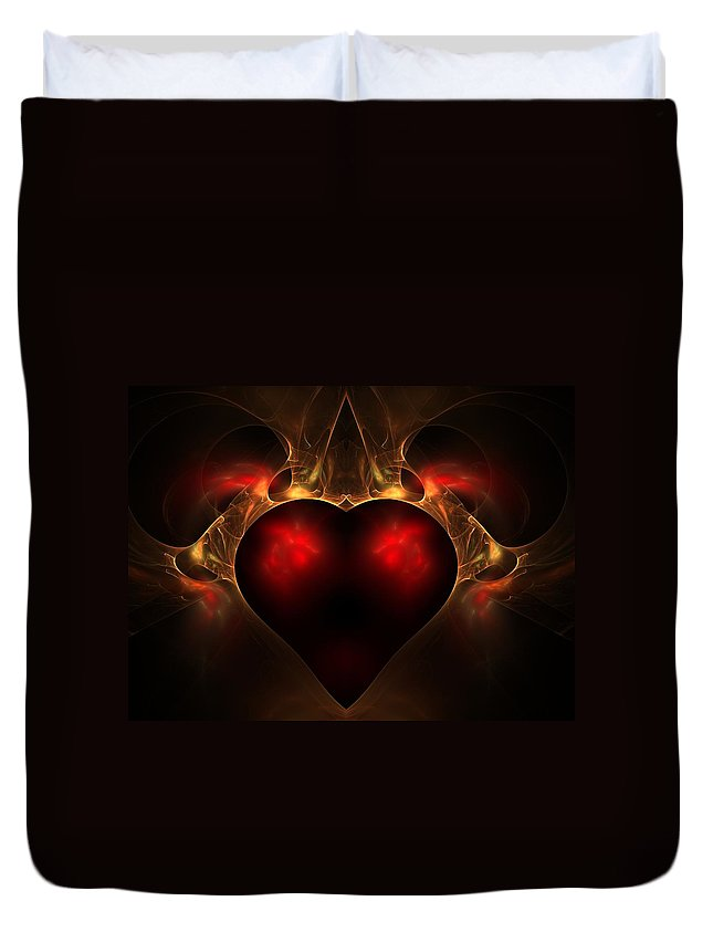 Fractal Duvet Cover featuring the digital art Aflame by Lyle Hatch