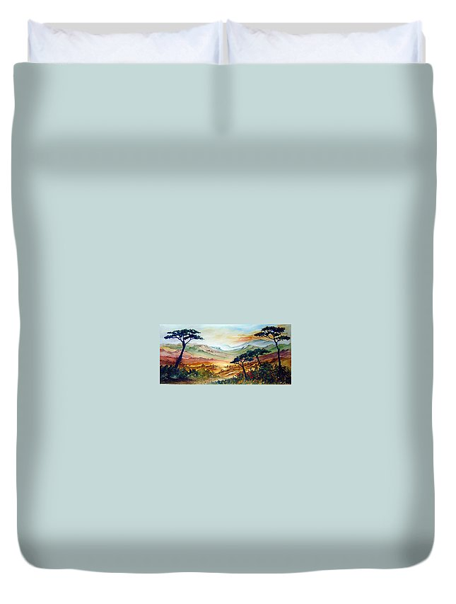 Africa Duvet Cover featuring the painting Africa by Joanne Smoley