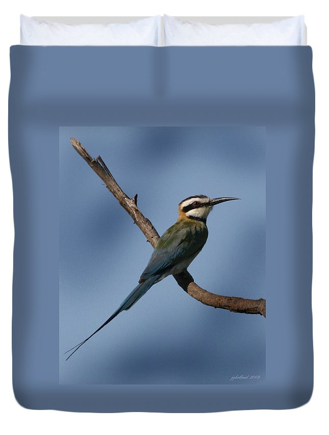 Bee Eater Duvet Cover featuring the photograph African Bee Eater by Joseph G Holland