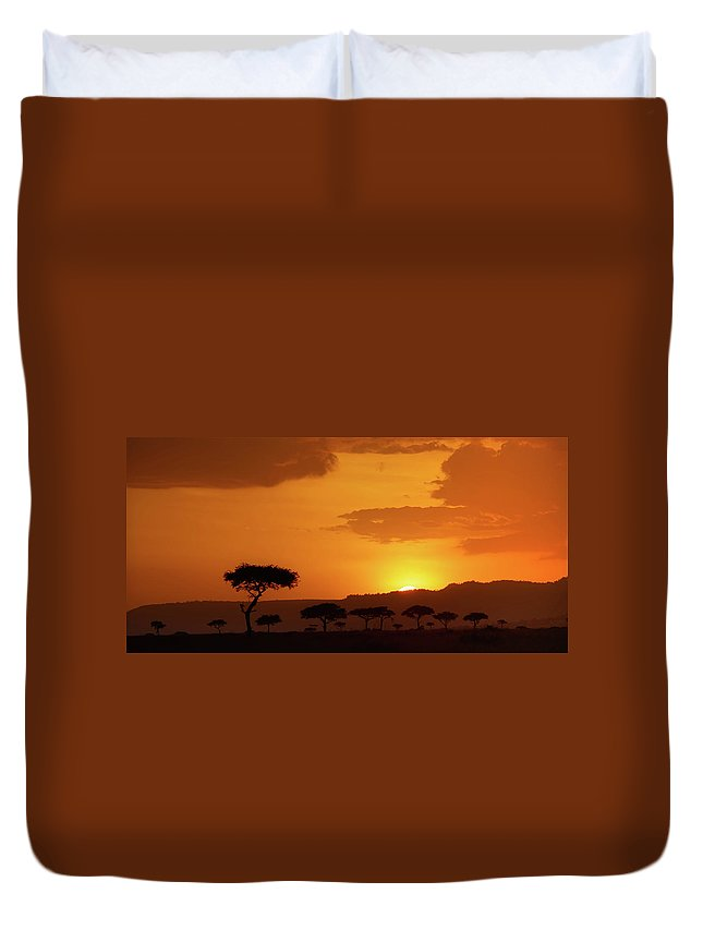 Africa Duvet Cover featuring the photograph African Sunrise by Sebastian Musial