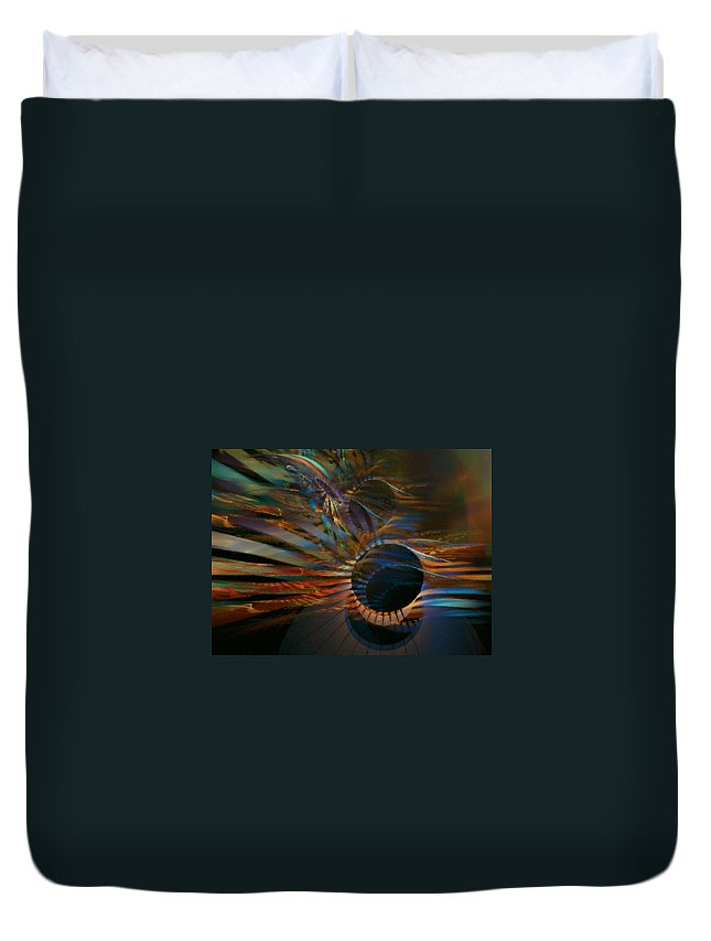 Abstract Duvet Cover featuring the digital art After Hours by NirvanaBlues