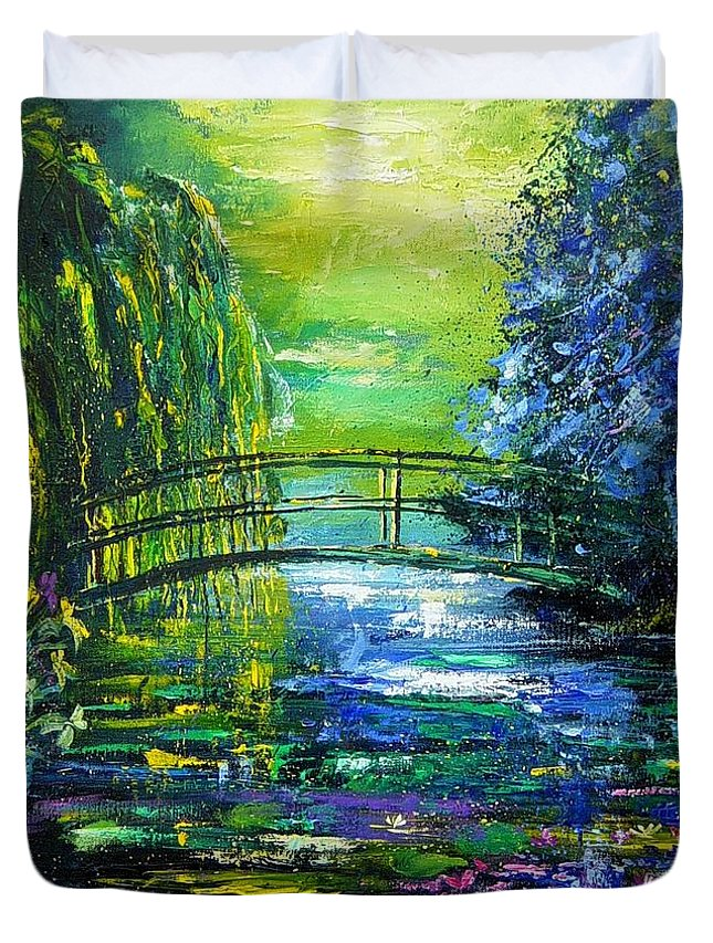Pond Duvet Cover featuring the painting After Monet by Pol Ledent