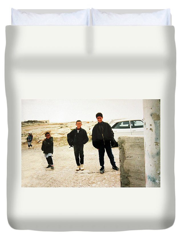 Kids Duvet Cover featuring the photograph After School by Munir Alawi