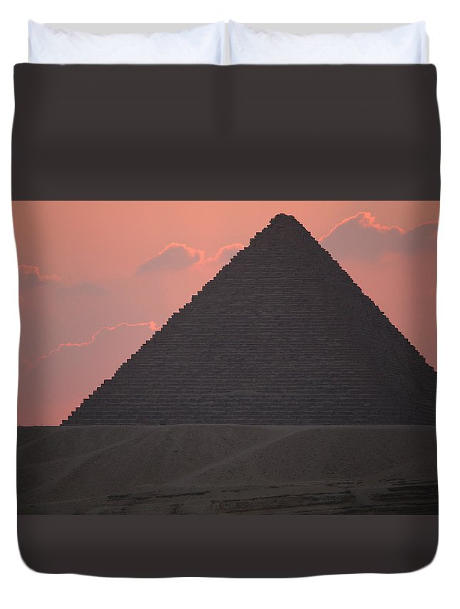 Pyramid Duvet Cover featuring the photograph After Sundown by Donna Corless