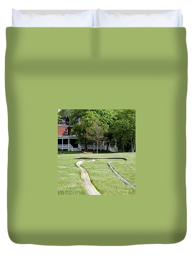 Fire Duvet Cover featuring the photograph After The Fire by Faith Harron Boudreau