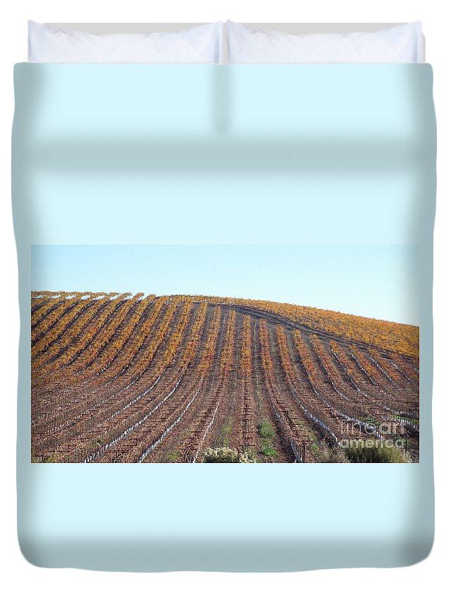 California Duvet Cover featuring the photograph After The Harvest by Brett Chambers