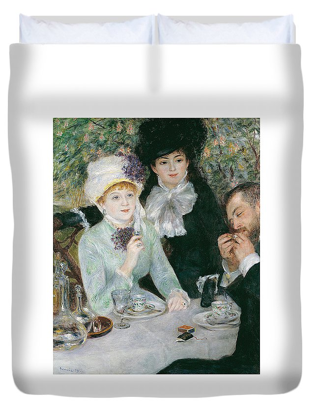 Pierre-auguste Renoir Duvet Cover featuring the painting After The Luncheon by Pierre-Auguste Renoir