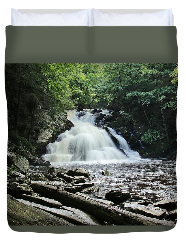 Wahconah Falls Duvet Cover featuring the photograph After The Rain 2 by Debbie Storie
