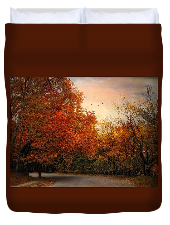 Nature Duvet Cover featuring the photograph After The Rain by Jessica Jenney