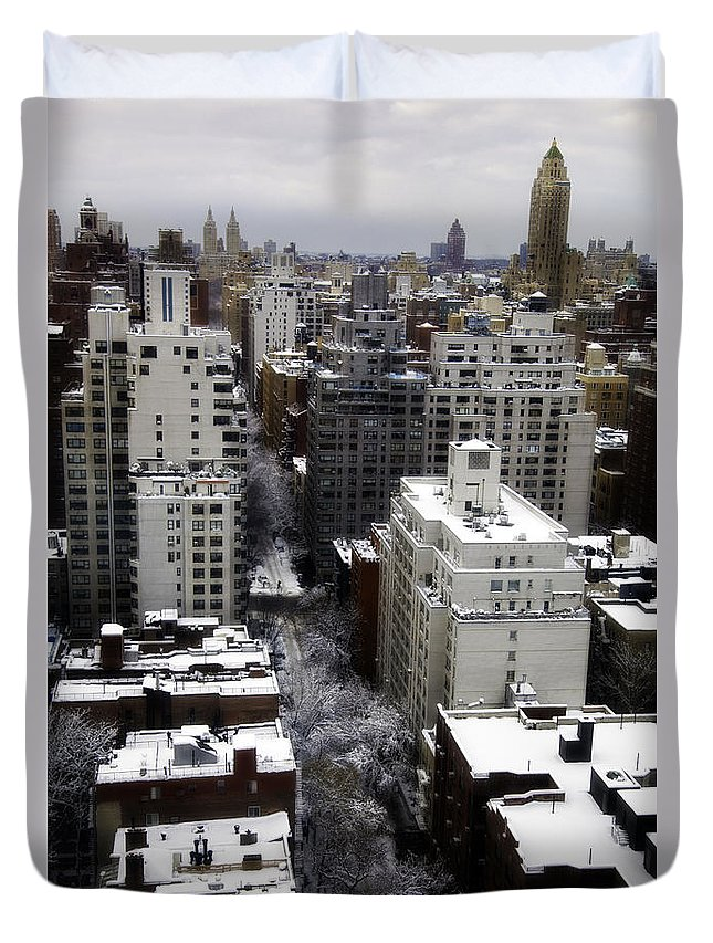 Snow Duvet Cover featuring the photograph After The Snow Storm by Madeline Ellis