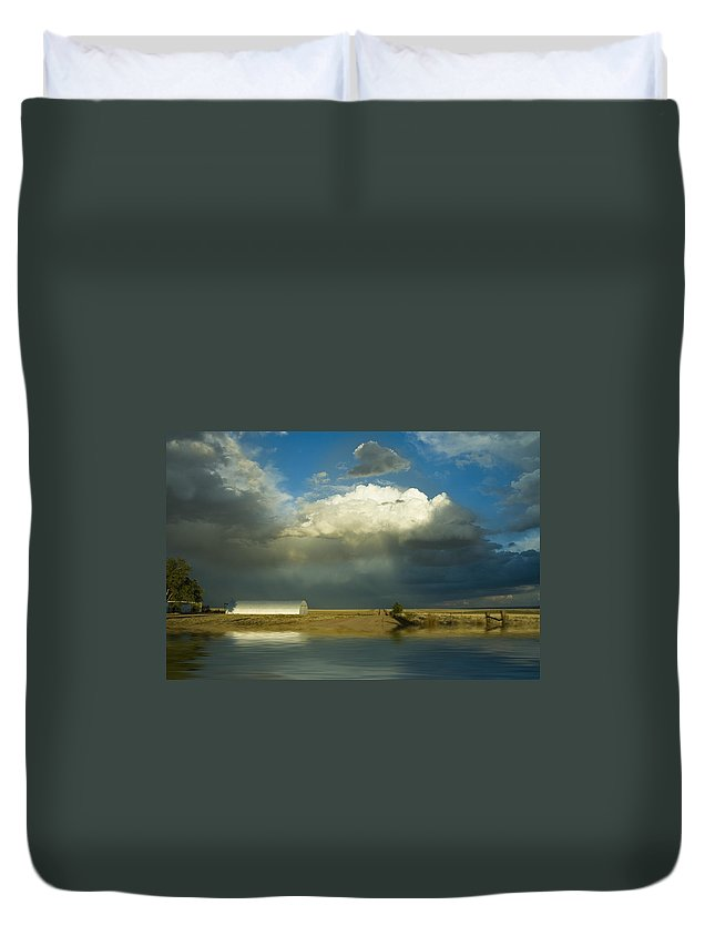 Storm Duvet Cover featuring the photograph After The Storm by Jerry McElroy