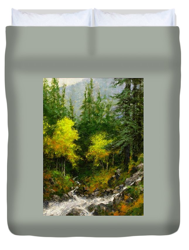 Painting Duvet Cover featuring the painting After The Storm September by Jim Gola
