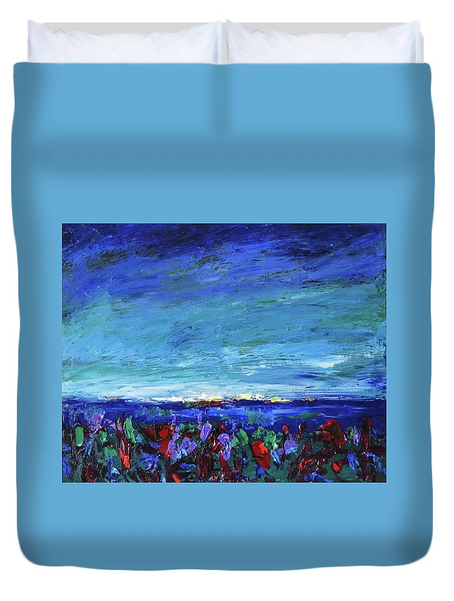 Palette Knife Duvet Cover featuring the painting After The Storm by Shannon Grissom