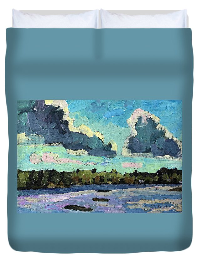 1770 Duvet Cover featuring the painting Afternoon Cold Front by Phil Chadwick